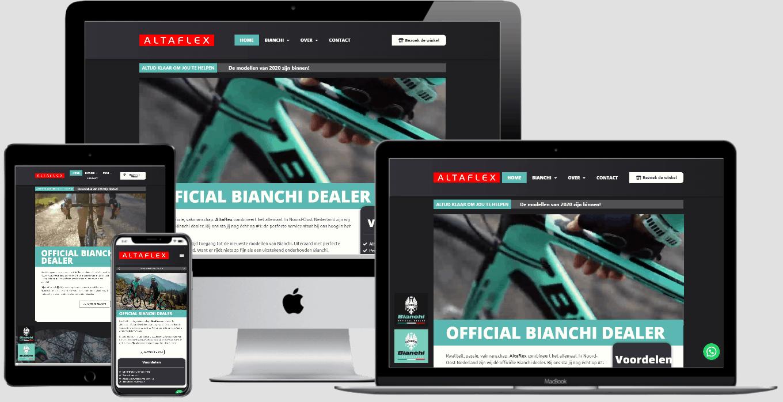 altaflex nieuwe website